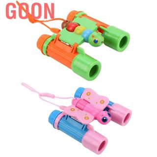 Goon 4 times PVC Children Binoculars 11x7x5cm Pocket Size Telescope Magnifying Glass Toy Nature Outdoor with Cute Animal