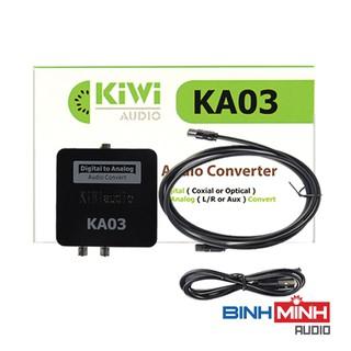 Bộ chuyển quang âm thanh TV 4K quang optical sang audio AV ra amply + Cáp optical Kiwi KA03 thumbnail