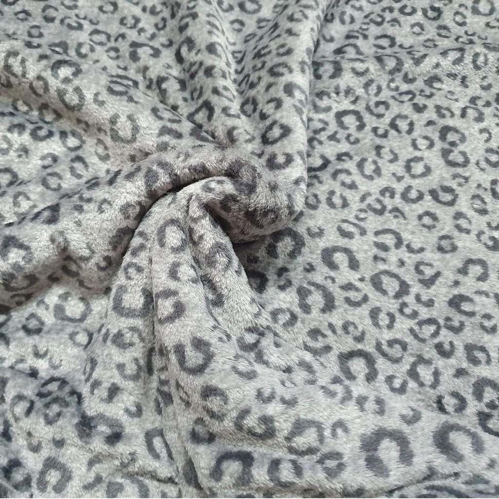 Mền lông cừu Thái *BEO XÁM* đi xe, văn phòng