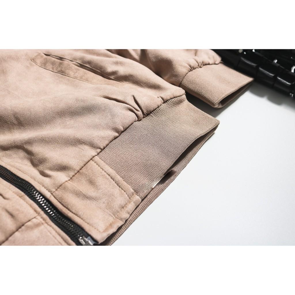(Ảnh thật 100%) Áo khoác da lộn lông Cừu siêu cao cấp -Hàng nhập khẩu