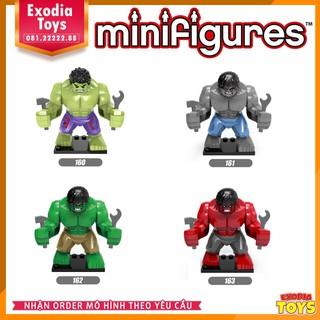 Bộ 4 bigifigure nhân vật Hulk Người Khổng Lồ Xanh : Marvel Avenger – Đồ Chơi Lắp Ghép Sáng Tạo