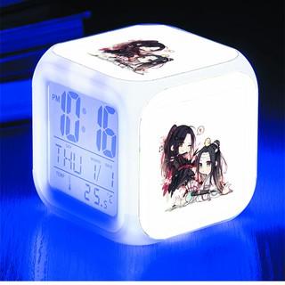 Đồng hồ báo thức để bàn in hình Vong Tiện Trần Tình Lệnh chibi LED đổi màu