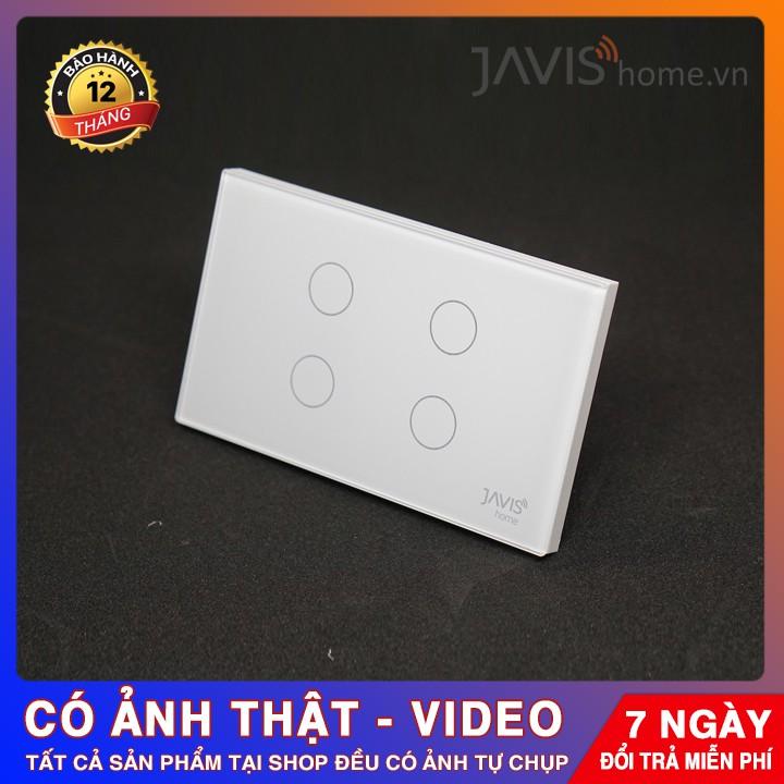 Công tắc cảm ứng thông minh JAVIS 4 Gang- Công tắc WIFI điều khiển bằng tiếng Việt