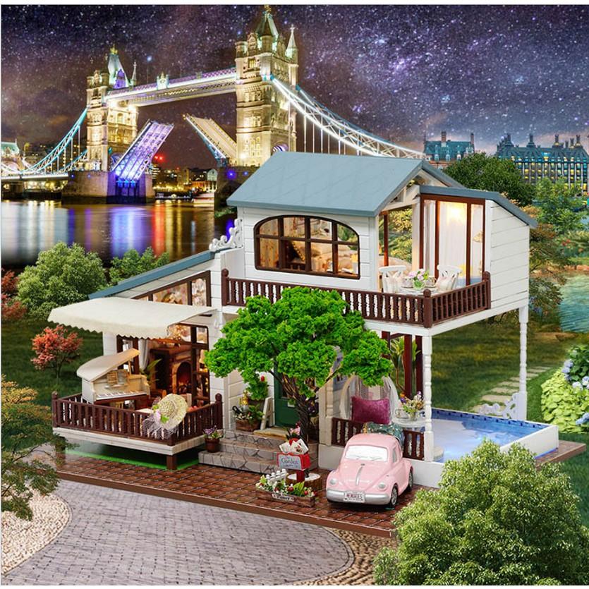 Mô hình tự lắp nhà búp bê DIY biệt thự LONDON HOLIDAY - 2872291 , 449644978 , 322_449644978 , 860000 , Mo-hinh-tu-lap-nha-bup-be-DIY-biet-thu-LONDON-HOLIDAY-322_449644978 , shopee.vn , Mô hình tự lắp nhà búp bê DIY biệt thự LONDON HOLIDAY
