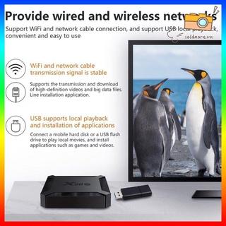 Hộp Tv Box X96Q H313 4k 60 Fps 2.4g Wifi Hdmi-Compatible Và Phụ Kiện