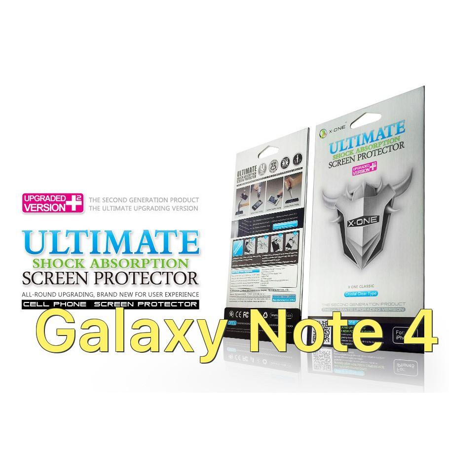 Miếng dán màn hình chịu lực hiệu X-One cho Samsung (dòng bạc) Galaxy Note 4