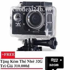 Camera hành động Waterproof 4K PLUS Sports WIFI LED 4K ULTRA HD DV + Tặng Thẻ Nhớ 32GB