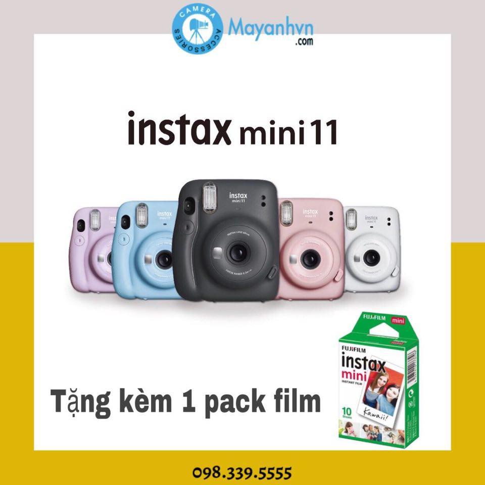Instax Mini 11-Máy chụp ảnh lấy ngay Fujifilm Instax Mini 11 ( Chính hãng- Bảo hành 12 tháng)- Tặng kèm 1 pack film