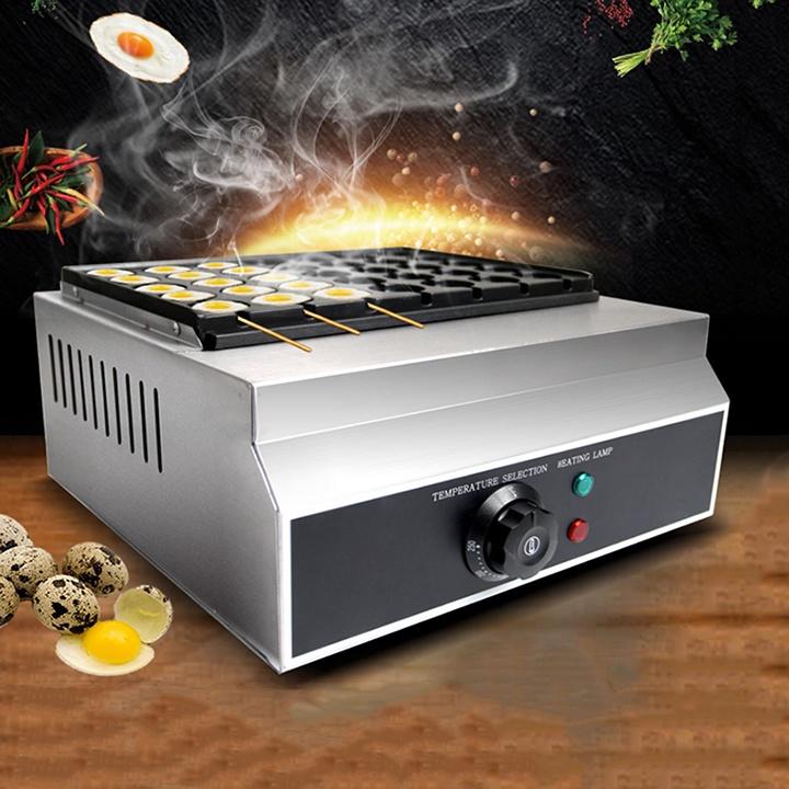 Máy nướng trứng cút cho kinh doanh 35 lỗ dùng gas