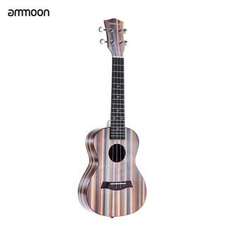 ammoon 24″ Acoustic Wooden Soprano Ukulele Ukelele Uke 18 Frets 4 Strings Okoume Neck Rosewood Fingerboard String