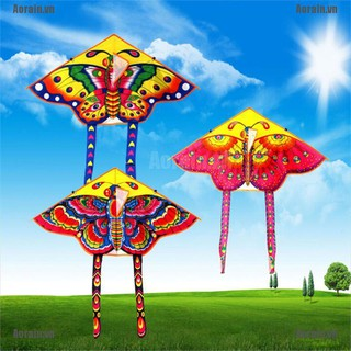 MT 1PC Butterfly Printed Long Tail Kite Children Kids Outdoor Garden Fun Toys NY