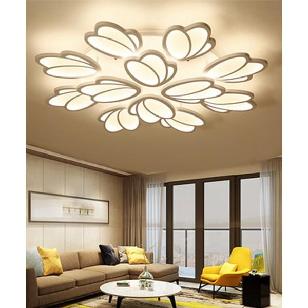 Đèn trần led mâm cao cấp hình bông hoa KL200 có điều khiển từ xa tiện dụng