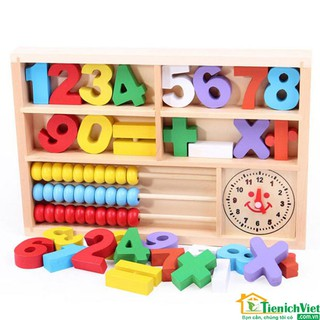 Bộ đồ chơi hộp số gỗ