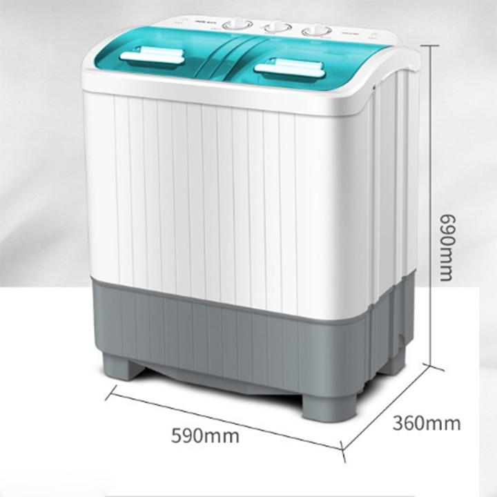 Máy Giặt AUX Bán Tự Động 2 Lồng Giặt Vắt 5.6 kg  gd40