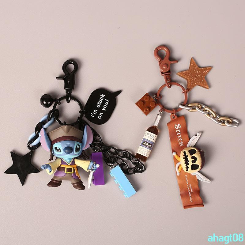 Orders over 250000 shipping Stitching Keychain Disney Stitch hanging ornaments doll cartoon cute creative keyahagt08