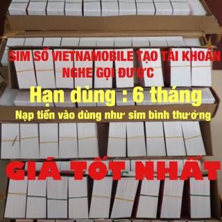 Sim số Vietnamobile tạo tài khoản hạn dùng 6 tháng