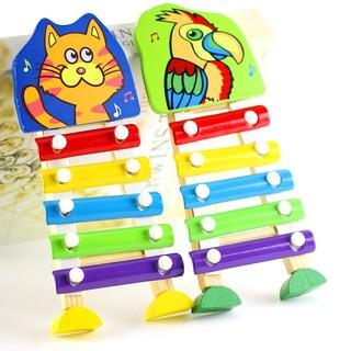 Đàn gỗ và kim loại Xylophone sắc màu cho bé