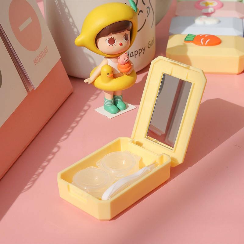 Hộp đựng kính áp tròng vô hình phong cách Nhật Bản dễ thương
