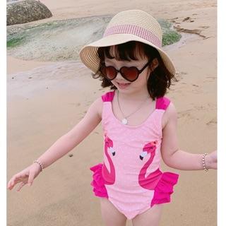 Bikini một mảnh hình hồng hạc cho bé (hàng sẵn)