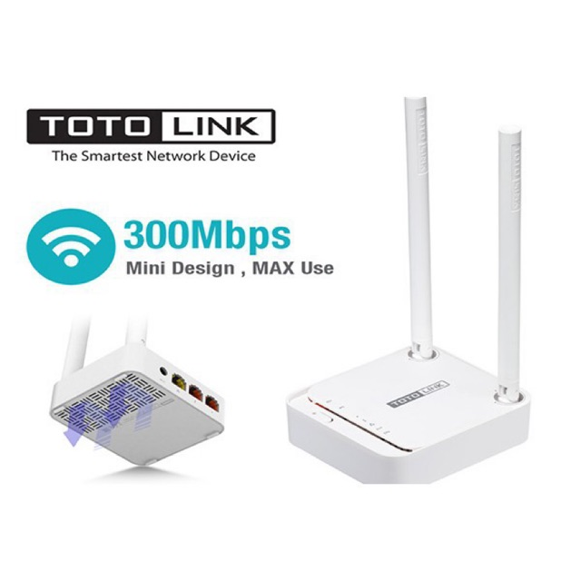 Bộ Phát WiFi TOTOLINK N200RE-V3 300Mbps (Hàng)