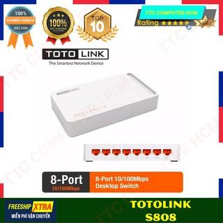 TOTOLINK S808 S808 - Switch 8 cổng 10 100Mbps - HÀNG CHÍNH HÃNG [ TTC COPUTER HCM ] thumbnail