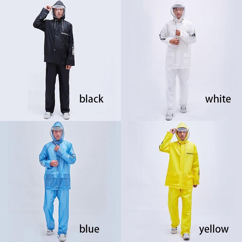 Bộ quần áo mưa chất liệu PVC dành cho nam