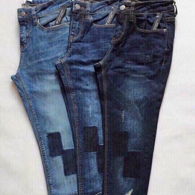 Quần jeans ôm chất jean dày có co dãn - 13692075 , 1520287765 , 322_1520287765 , 260000 , Quan-jeans-om-chat-jean-day-co-co-dan-322_1520287765 , shopee.vn , Quần jeans ôm chất jean dày có co dãn