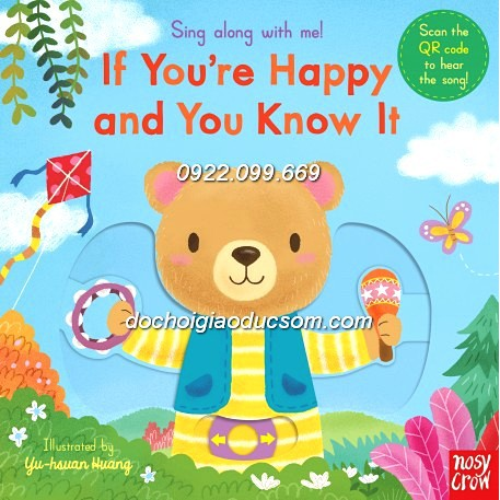Sách tiếng anh trẻ em: If you happy and you know - Sing along with me