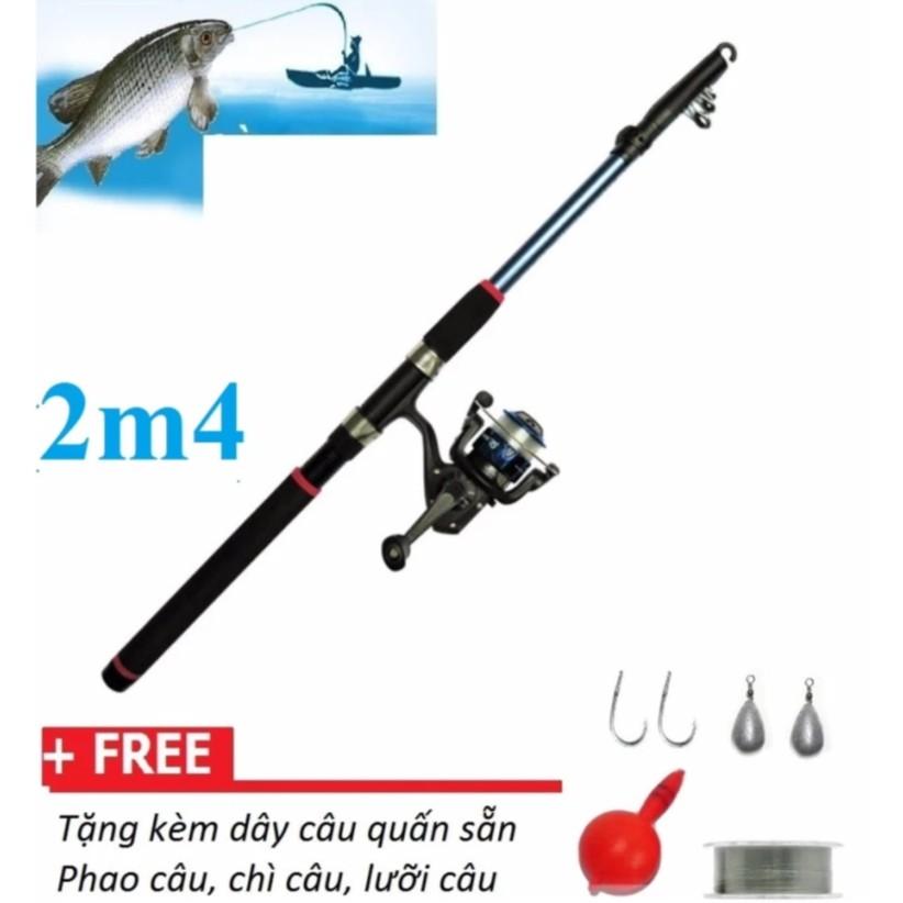 Bộ cần 2.4m + máy câu cá tặng kèm phụ kiện câu cá - 2912933 , 400670248 , 322_400670248 , 155000 , Bo-can-2.4m-may-cau-ca-tang-kem-phu-kien-cau-ca-322_400670248 , shopee.vn , Bộ cần 2.4m + máy câu cá tặng kèm phụ kiện câu cá