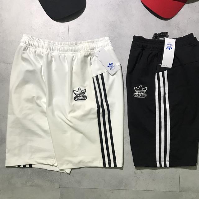 Quần short nam thể thao Adidas (chất thun, logo thêu, hai túi khoá kéo) Quần thể thao