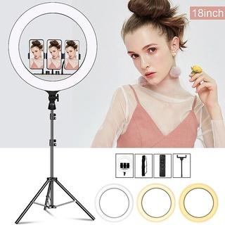 [Đèn livestream size 45cm] hỗ trợ bán hàng, make up kèm gậy 2m1 với 3 chế độ sáng thumbnail