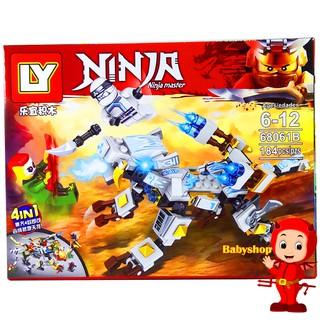 Bộ Lego Xếp Hình Ninjago Siêu Robot. Gồm 184 Chi Tiết. Lego Ninjago Lắp Ráp Đồ Chơi Cho Bé. Lego Ninjago