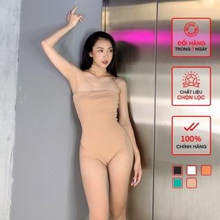 Áo Chocker Bodysuit Nữ BUSY Thun Zip Hai Lớp Co Giãn Ôm Body CKB thumbnail