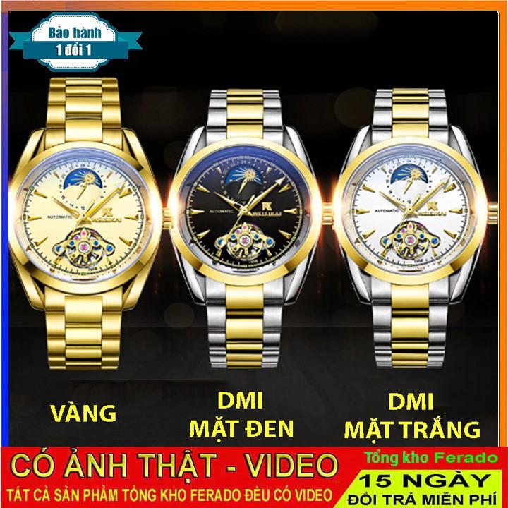 Đồng Hồ Cơ Nam Dây Thép Đặc QUAY FULL KIM Weisikai BH 1 ĐỔI 1