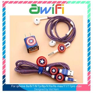 Decal dán, dây quấn, nút airpod ( không kèm củ sạc dây cáp và tai nghe ) – Awifi L1-2