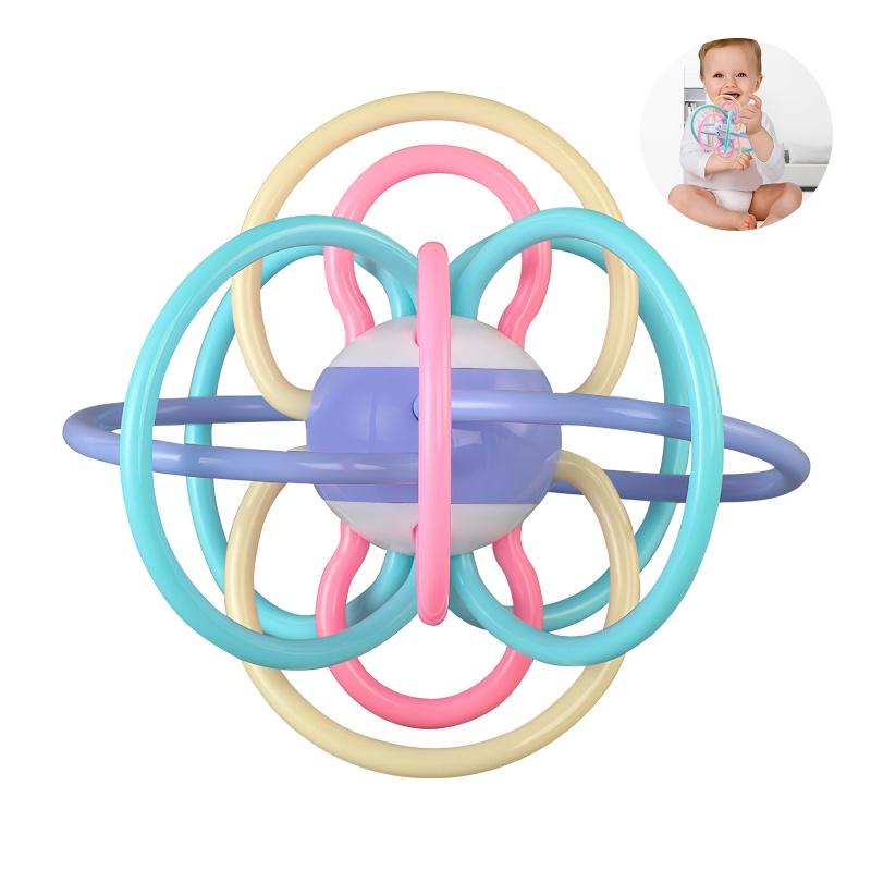 Baby Rattle Teether Ball Toy Đồ chơi mọc răng thích hợp cho trẻ sơ sinh và trẻ mới biết đi ở mọi lứa tuổi