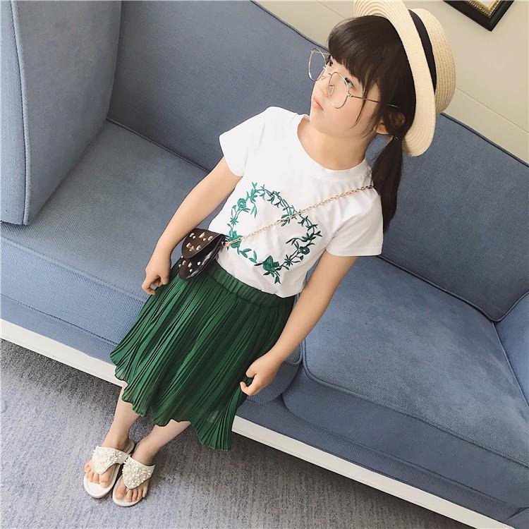 Set váy bé gái màu xanh 10-16kg J26