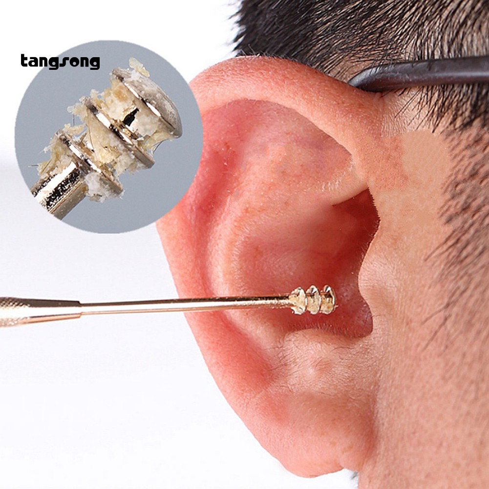 tang_Double-Ended Stainless Steel Spiral Ear Pick Spoon Ear Wax Removal Cleaning Tool