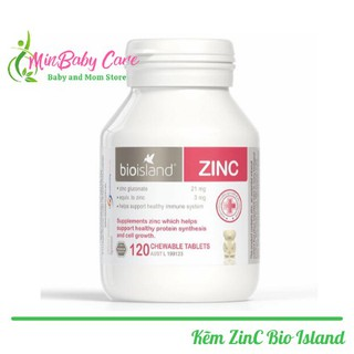 [ Chính Hãng ] Kẽm Zinc Bio Island Cho Bé 120 Viên Úc thumbnail