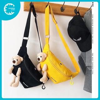🍀 Túi bao tử đeo chéo, túi vải canvas nữ cute hình gấu Ani Jia Bag LS - SP004725