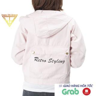 Áo khoác kaki nữ mũ phối chữ Restro Styling áo khoác nữ phong cách ulzzang chống nắng NIMO