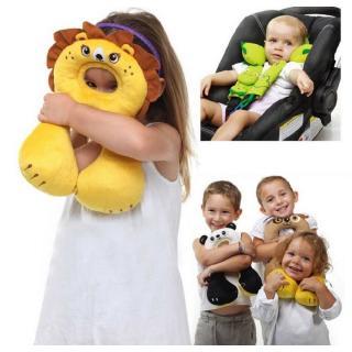 Gối kiểu chữ U hình thú dễ thương cho trẻ em dùng làm đệm ghế an toàn khi ngồi xe ô tô du lịch thumbnail