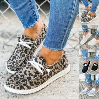 Giày Lười Họa Tiết Da Báo Thời Trang Cho Nữ