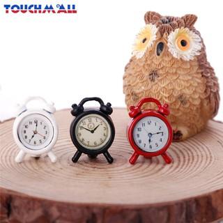 TM 1:12 Dollhouse Miniature Alloy Alarm Clock Bedroom Accessories Toy