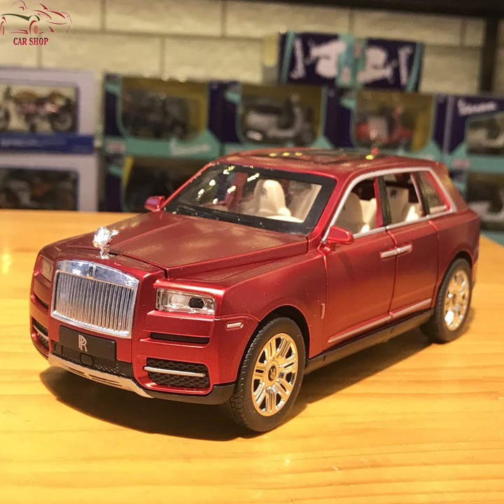 Mô hình xe ô tô Rolls-Royce Cullinan tỉ lệ 1:24 màu đỏ