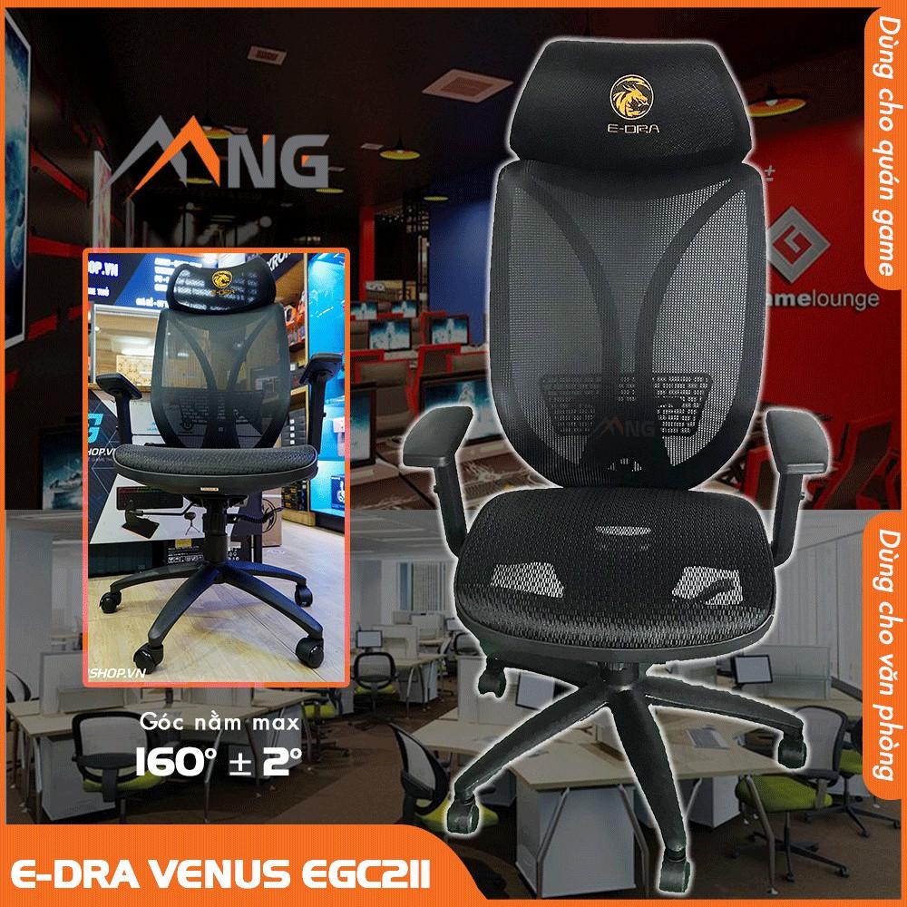 Ghế Văn Phòng, Chơi Game Edra Venus EGC211 Nhẹ Không Gây Tiếng Ồn Chính Hãng Cao Cấp Bảo Hành 12 Tháng