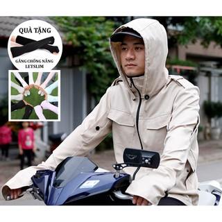 Áo chống nắng nam nữ VN Chuẩn Đẹp + 1 Đôi Găng Tay Chống Nắng thumbnail