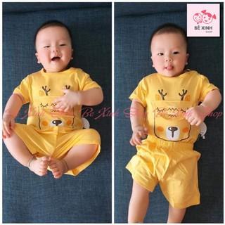 Đồ bộ cho bé trai bé gái Kwoo [Giá sập sàn] Bộ cộc tay cho bé trai gái chất liệu thun lạnh mịn và mát bộ hè TÚI THÚ