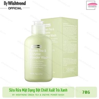 Sữa rửa mặt dạng bột dịu nhẹ By Wishtrend Green tea & Enzyme Powder Wash 70g