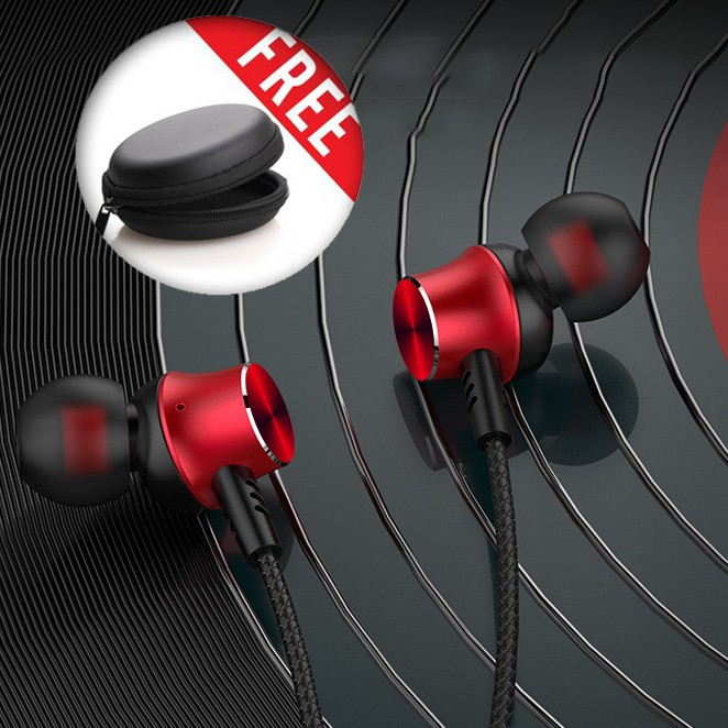 Tai nghe Có dây cao cấp L4 có mic, dây siêu bền, khuyến mãi tặng hộp đựng + nút tai